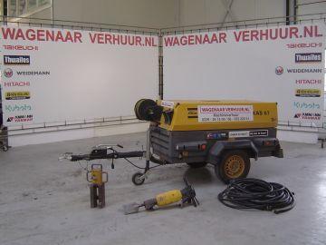 Pneumatische hamer dieselcompressor